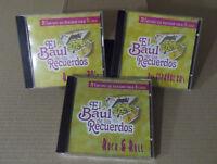 Lote de 3 CD,s El Baul de los recuerdos.Baladas,Pop Español,Rock&Roll