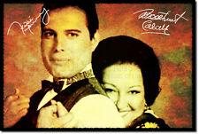 Freddie Mercury e MONTSERRAT CABALLE ART PHOTO POSTER REGALO