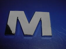 "FORMULA BOAT LOGO EMBLEM CHROME LETTER 2-1/4"" HIGH "" M "" NEW !!"