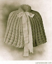 How to make this Victorian,Charles Dickens era shoulder cape-knitting pattern