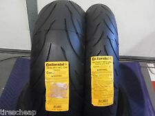 120/70-17 190/50-17 CONTINENTAL MOTORCYCLE TIRES (SET 2) 120/70zr17 190/50zr17