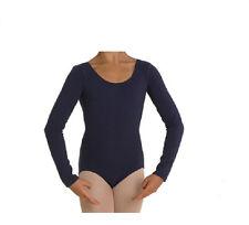 Mondor 497 Navy Blue Child Size Medium (7-10) Long Sleeve Leotard
