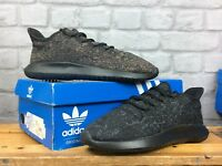 ADIDAS ORIGINALS MENS TUBULAR SHADOW JACQUARD BLACK GREY VARIOUS SIZES