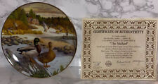 The Mallard Collector Plate Living With Nature Jerner's Ducks 1986 Knowles China