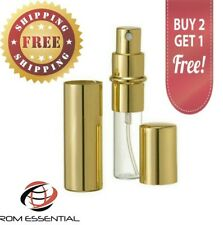 Gold 12ml Spray Atomizer Perfume / Cologne Travel Size Refillable Rom Essentials