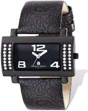 Ladies Charles Hubert Stainless Black Leather 40x23mm Watch