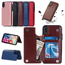 For iPhone X/XS XR / XS Max Leather Wallet Case Card Slot Flip Case Cover