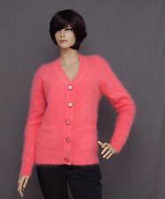 Angora strickacke Cardigan, couleur corail et taille L ou XL (au choix)
