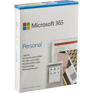 Microsoft Office 365 Personal 12-Month, 1 Person, PC/Mac QQ2-01024 in Retail Box
