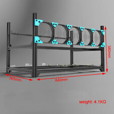 Open air Mining Case Computer ETH Frame Rig for Bitcon Miner Kit 6 GPU 7FANS
