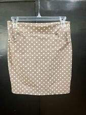 Audrey 3+1 Skirt Size S Polka Dot Tan and Cream