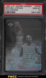 1992 Upper Deck Award Winner Hologram Michael Jordan #AW9 PSA 10 GEM MINT