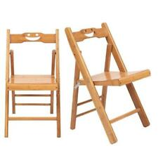 Foldable 2 PCS Bamboo Wooden Child Folding Chair Garden Camping Picnic Stool US