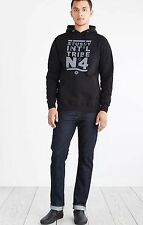 NEW STUSSY MEN'S NO. 4 3M REFLECTIVE PULLOVER HOODED SWEATSHIRT MEN'S SIZE SMALL