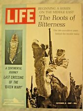 """LIFE Oct 6 1967 """"Queen Mary"""" last Atlantic trip, history of Middle East conflict"""