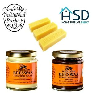 Cambridge Traditional Beeswax Wood Furniture Polish Cream Finest Bees Wax Sticks