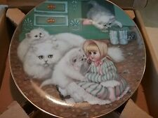 """Country kittens """"captive audience"""" collector plate mint 3083b in box 0047"""