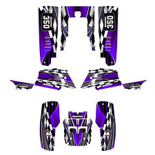 Yamaha Banshee Graphics Full Coverage Kit Free Custom Service  #2500 Purple