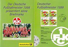 BRD Bund Erinnerungsblatt EB 4 1998 MiNr. 2010 4er Deutscher Fußballmeister