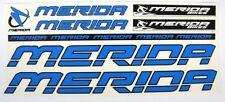 Merida Sticker Set Aufkleber Bike Fahrrad Stickers Logo Aufkleberset Blau Blue