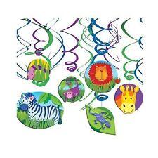 Jungle Animals Hanging Swirls, Party Supllies, Decorations