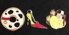 Disney pin Villain Cruella De Vil Shoe Heel Donut Sidekicks 101 Dalmatians lot 3