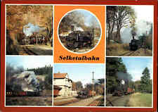 Eisenbahn DDR Dampflokomotiven der SELKETALBAHN diverse Ansichten und Bahnhöfe