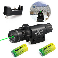 Green Laser Sight Dot Scope for Rifle Gun with 2 switch & Rail Mounts & Battery
