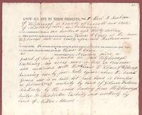 Original Deed  1850  WOLFBOROUGH (WOLFBORO) New Hampshire. L. Sanborn & T. Chase