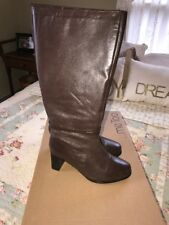 Me Too Brown Leather Boots Size 8 M