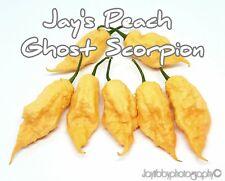 (25+) Jays Peach Ghost Scorpion JPGS Pepper Seeds
