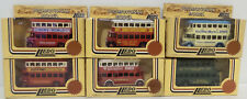 BUSES :  SET OF 6 DOUBLE DECKER BUSES MADE BY LLEDO. PROMOTIONAL SERIES (DT) 116
