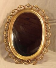 Vintage SYROCCO oval frame and mirror 14x18 mirror 10 3/4 x 14 3/4 molding 2 1/2