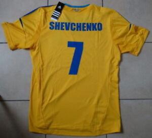BNWT ! AUTHENTIC SHEVCHENKO MILAN FC UKRAINE UKRAINE Jersey Football Shirt Sz S