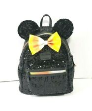 Disney Parks  Halloween Minnie Mouse Candy Corn Mini Backpack by Loungefly