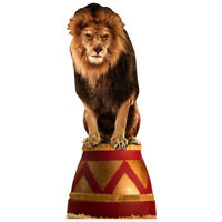 CIRCUS LION Lifesize CARDBOARD CUTOUT Standee Standup Poster Big Cat FREE SHIP