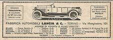W9153 Fabbrica Automobili LANCIA & C. - Pubblicità del 1923 - Vintage advert