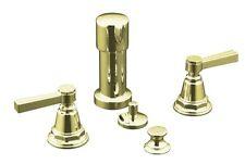 Kohler Pinstripe Vertical Spray Bidet faucet K-13142-4B-AF  FRENCH GOLD