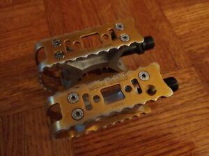 """Suntour BMX pedals 9/16"""" gold DG GT SE"""