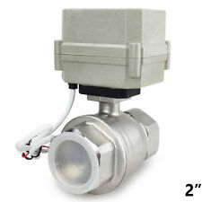 "Hsh-Flo 2"" Dn50 2 Way Ss304 Motorized Ball Valve,Full Bore Electrical Ball Valve"
