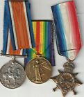 WW1 TRIO MEDALS,  1154 SPR. H.S.MOSS.  R.E.   WITH PAPERS