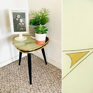 50s Mid Century Plant Stand Table Tripod Side End Table Formica Vintage Atomic