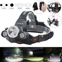 BORUiT 30000LM Headlamp 3x XML L2+2*R5 LED 18650 Headlight Torch Lamp Flashlight