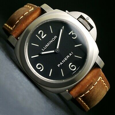 Stunning Panerai PAM 176 Luminor Titanium 44mm Man's Watch Box Papers, MINT, NR!