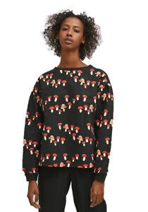 Cotton evasé sweatshirt with mushroom print by Compania Fantastica
