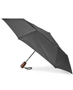 Shedrain Windpro Automatic Compact AOC Wooden Folding Umbrella Black NEW $85