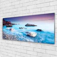 Acrylglasbilder Wandbilder aus Plexiglas® 125x50 Meer Steine Strand Landschaft