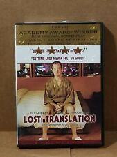 Bill Murray Scarlett Johansson Dvd Lost in Translation Sophia Coppola Anna Faris