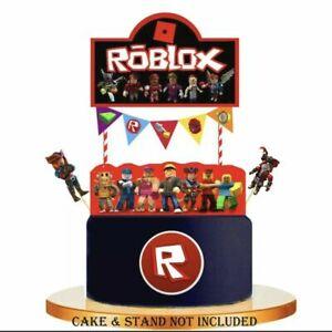 ROBLOCKS Gaming Cupcake Picks Birthday Cake Topper Party Supplies Decoration UK