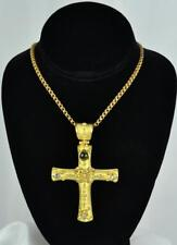 Denise Roberge Huge 18k Gold Tourmaline & Moonstone Cross Pendant ** Excellent**